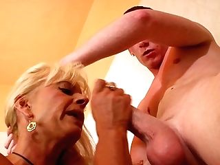 Blonde Gets Her Gullet Pumped Utter Of Pole In Deep Throat Activity With Horny Bang Pal
