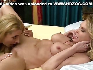 Big-boobed Blonde Slurped By Her Mummy Friend