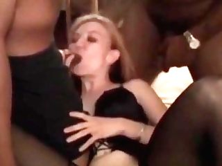 Cheating Cougar And Two Big Black Cock Bulls Submissive Sees Her Fuck