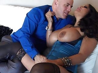 Black Haired Mummy Kiara Mia In Sexy Stockings Gets Her