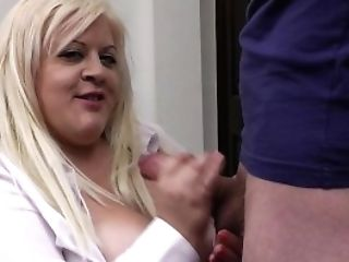 Chief Fucks Buxomy Blonde Assistant In Stocking