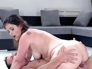 Cleaning Wifey Stops For A Minute To Take Her Dose Of Energy