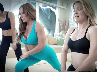Cougar Farrah Dahl And Her Sport Gfs Fuck One Jaw-dropping Sport Instructor