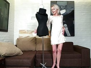 Matures Blonde Artemia Gets Naked And Plays With Her Yummy Muff