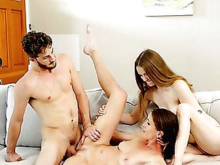 Throning During Hot Mff Threesome Is Joy For Lusty Sofie Marie