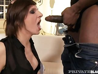Private Black - Hot Cougar Nina's Rump Packed By Big Black Spear!