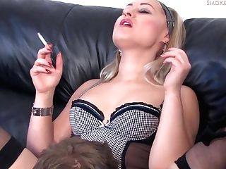 This Hot Blonde Likes To Smoke While Having Lovemaking, Because It Perceives So Much Nicer