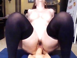 Hot Cougar Licks Meaty Dick