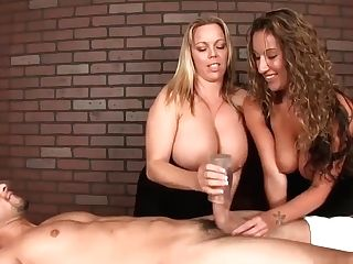 Two Ladies Determine To Test Their Massaging Abilities