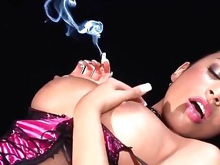 Romana Ryder Is A Smashing Dark-haired With Ample Assets Who Likes To Get Fucked While Smoking