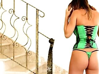 Stacey Poole: Busting Out Of My Green Corset (pinup Files - Part 1) [hd]