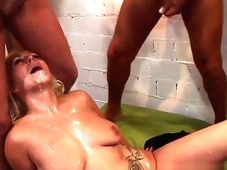 Group-fucked Skank Sprayed