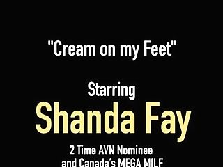 Horny Wifey Shanda Fay Loves Jizz On Her Fucked Feet!
