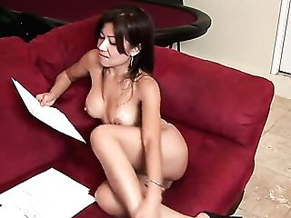 Sexy Matures Asian Jackie Lin Gets Indeed Horny While Busting Her Cock-squeezing Cooch