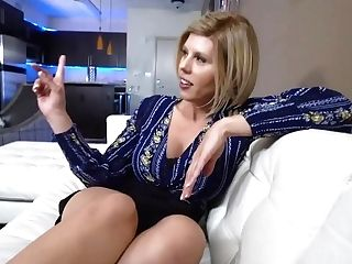 Mummy Sex Industry Star Amber Chase Point Of View Quickie Kitchen Fuck