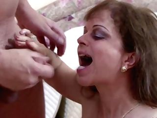 Step-mom Help Step Son-in-law To Get His First-ever Fuck