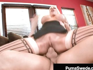 Chesty Blonde Bombshell Puma Swede Plowed By A Hard Dick!