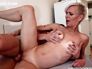 Brief Haired Blonde Woman With Diminutive Tits, Belinda Bee Likes To Get Fucked In A Rear End Position