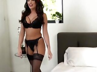Wifey In Underwear Fucks Hubby After He Came Home From Work