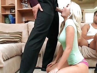Sexy Blonde Wifey Cuckolds Her Spouse