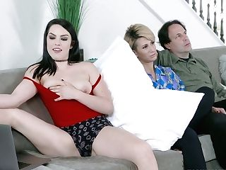 Spoiled Stepdaughter Raven Reign Tempts Her Stepparent In Front Of Sleeping Mom