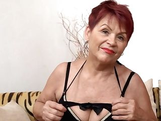 Czech Granny Gilf With Big Saggy Tits And Clean-shaven Cootchie Poses Solo