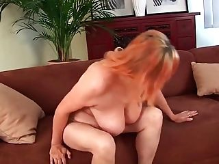 Hairy Grand-ma With Big Tits Has Solo Lovemaking