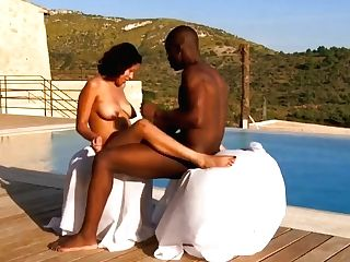 African Paramours Making Love Outdoors