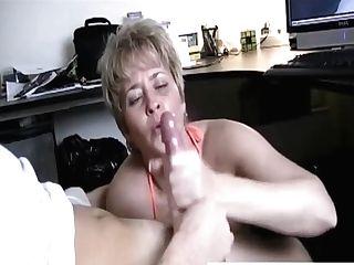 Handjob Caught While Watching Pornography