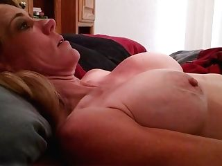 Lady Gets Another Utter Stream On Her Thick Tits