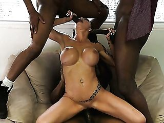 Wild Sexy Huge-titted Melissa Lynn Is Made To Work On Fat Strong Bbcs