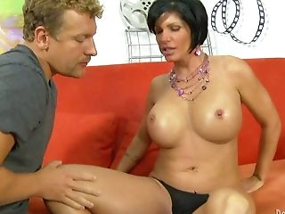 His Stepmom Shay Fox Is A Good Looking Dark-haired With